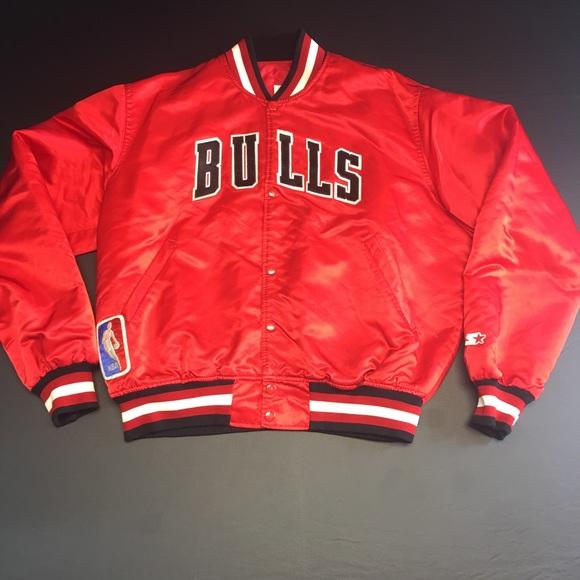 dc639c51d52 Vintage Red Chicago Bulls Satin Starter Jacket. M 5987c08599086a8e91097547