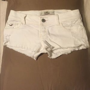 Hollister white Jean shorts, size 0
