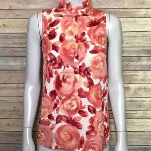 {LOFT} watercolor floral blouse