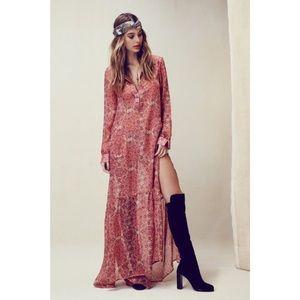 NWOT authentic For Love & Lemons Geneva maxi dress