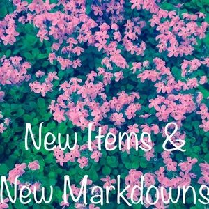 New Items & New Markdowns
