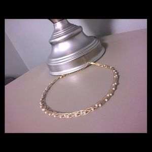 Jewelry - Gold and pearl braided choker