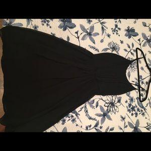 Strapless black Sandro dress