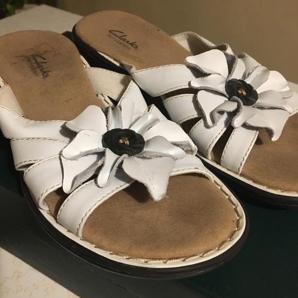 Clarks Shoes | White Sandals | Poshmark