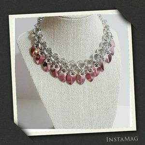 💋Pink Dragon Scale Mobious Necklace