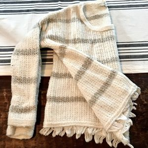 NEW Madewell   Knit Fringe Sweater (Size S)