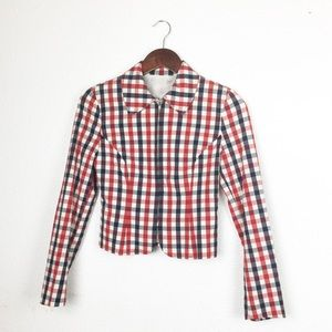 Vintage Cheap & Chic by Moschino Plaid Jacket