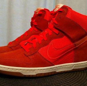 New Nike Women's Dunk Sky High Mesh Wedge Shoes Cr
