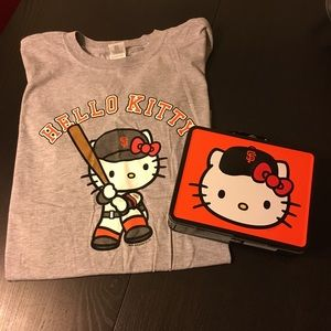SF Giants + Hello Kitty lunch box and shirt