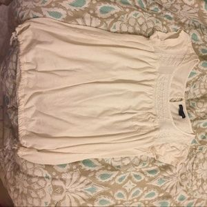 Cream cotton American eagle shirt