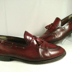 NON LABELED LEATHER MAROON BURGUNDY SHOE SZ 11