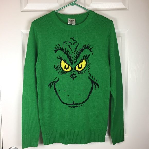 dr seuss grinch ugly christmas sweater green s - Grinch Ugly Christmas Sweater