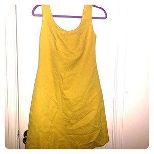 Anthropologie Yellow Vintage Style Dress
