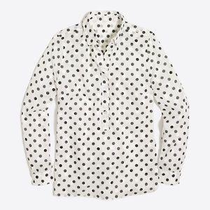 J. Crew Jacquard Dot Popover Shirt