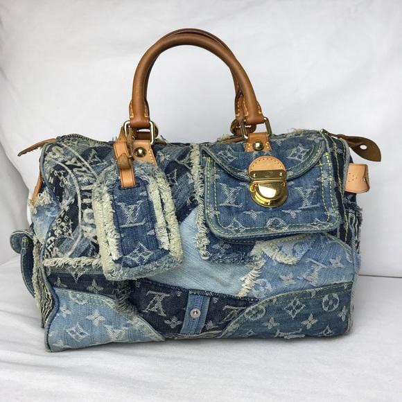 d12872abcb0d Louis Vuitton Handbags - Limited Edition! Louis Vuitton Denim Speedy