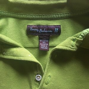 Tommy Bahama Shirts - Tommy Bahama Textured lime green XXL golf 18 polo