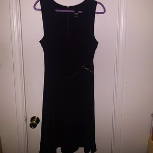 Elegant Formal Black Cross Tie Dress