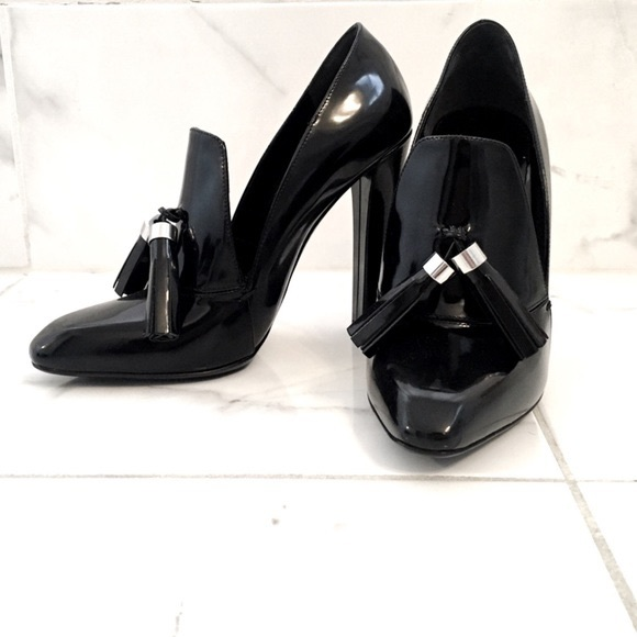 Alexander Wang Shoes - Alexander Wang Black Anais Leather Loafer Pump 39