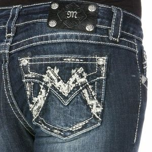 Miss Me Denim Bling M pocket Boot Jeans boot cut