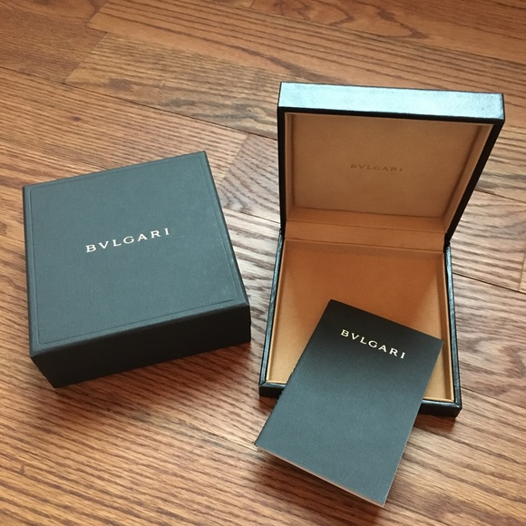 Bvlgari Jewelry Black Leather Box Gift Box Card Poshmark