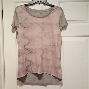Calvin Klein NWT pink and gray top