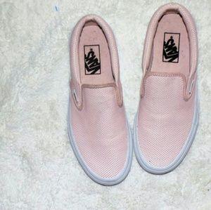 Vans Pink Slip On Shoes