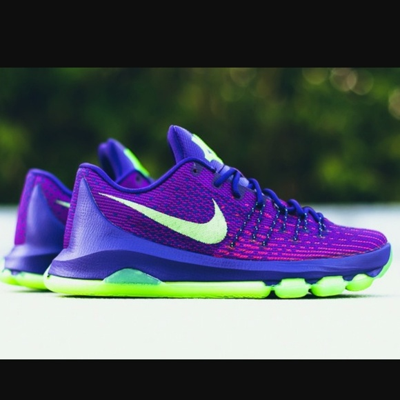 timeless design b02f6 f6326 NEW! Men's Nike Kd 8 purple green NWT