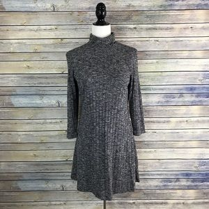 American Eagle Open Back Turtleneck Swing Dress