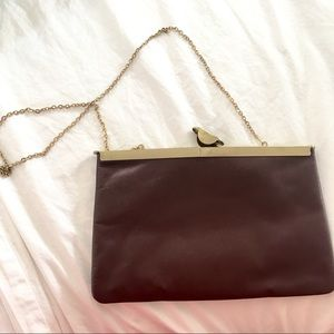 Handbags - Vintage Deep Berry Clutch