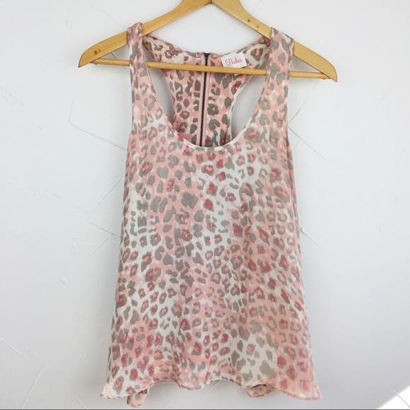 3535228cdd6f3 Parker Pink Cheetah Print Silk Tank Top M. M 598873ad2de512f3e00b83c7