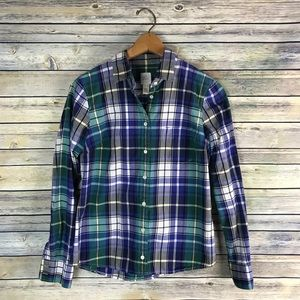 J. Crew Quincy Tartan Plaid Boy Shirt