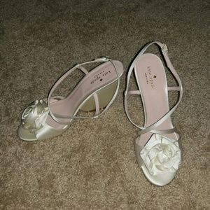 Kate Spade Rose Petal Bridal wedges