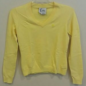 Lilly Pulitzer small yellow long sleeve sweater
