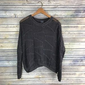 Sparkle & Fade Urban Outfitters Grey Knit Sweater