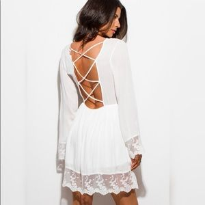 Threadzwear Dresses - 🎉TODAY ONLY SALE🎉Lace Trimmed Dress