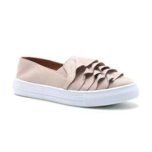 Shoes - Ruffle, suede sneakers