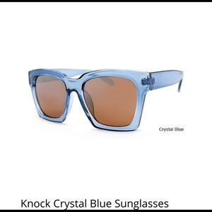 Accessories - Knock Crystal Blue Sunglasses