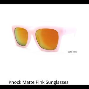Accessories - Knock Matte Pink Sunglasses