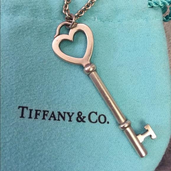 Tiffany Co Jewelry Tiffany Co Sterling Silver Heart Key Necklace Poshmark
