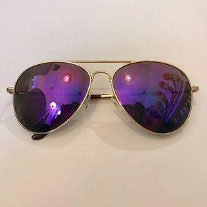 Accessories - Purple Skyline Aviators