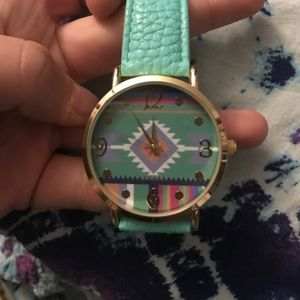 Jewelry - Aztec teal watch