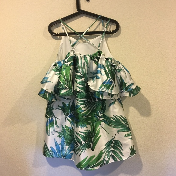 A. Peach Dresses - NWT A. Peach criss cross off shoulder palm dress