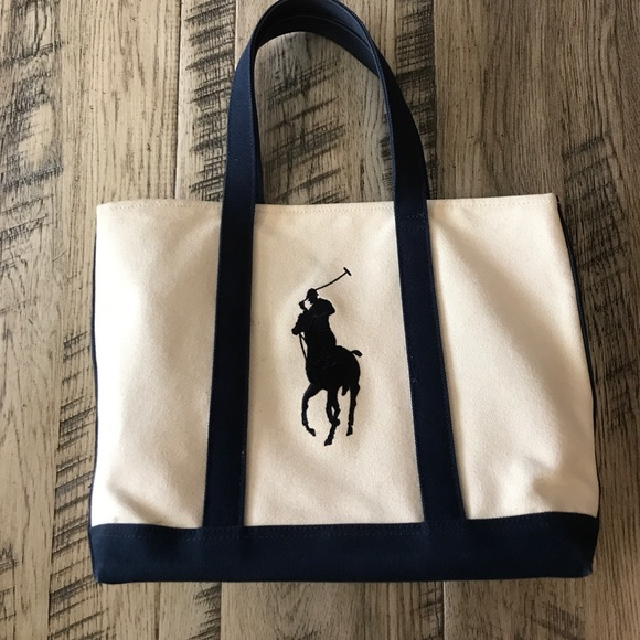 Polo by Ralph Lauren Bags   Polo Ralph Lauren Canvas Pony Tote ... 7045a2f966