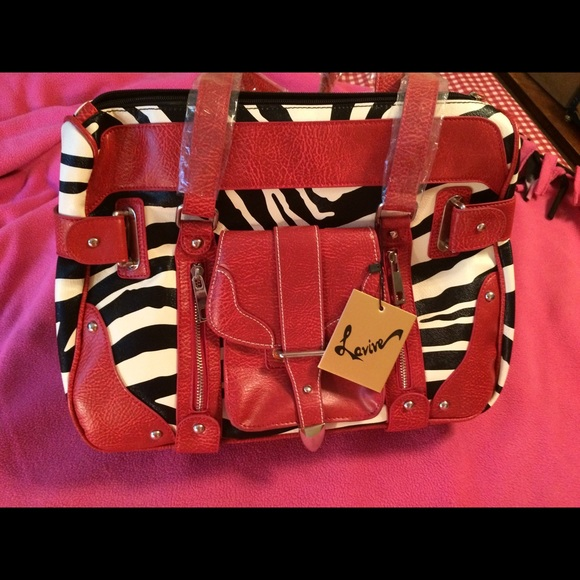 4375bc161916 Vegan Leather Zebra Tote Bag