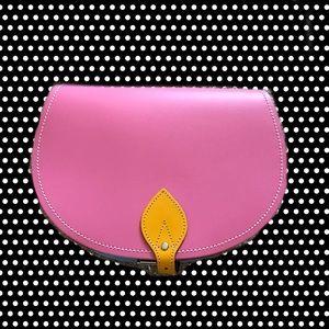 Zatchels Kaleidoscope Leather Saddle Bag