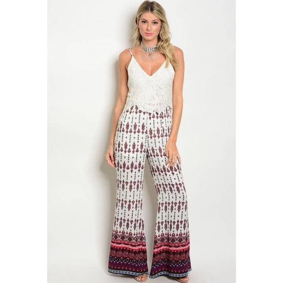 hot2own boutique Pants - Aztec palace jumpsuit boutique