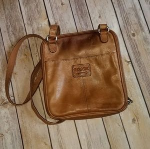 Leather Fossil Brand Messenger Bag