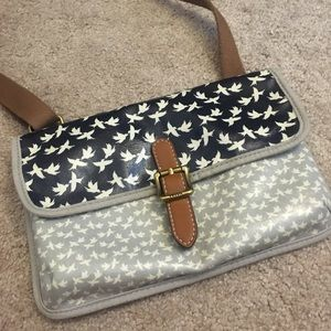 Fossil Bird Crossbody Purse
