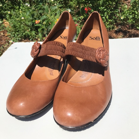 Sofft Shoes - Sofft Brown Mary Janes with Rose Knot 12