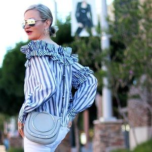 Tops - Striped Off The Shoulder Top